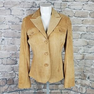 Vintage Danier Suede Jacket Small Tan Fitted